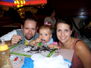 Birthday Cake with Mommy & Daddy