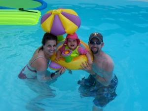 Sadie' First Swim